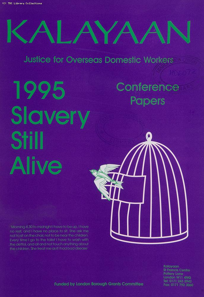 Kalayaan - Justice for Overseas Domestic Workers, 1995