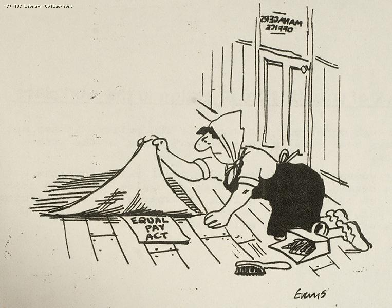 Equal Pay Act - cartoon, 1982