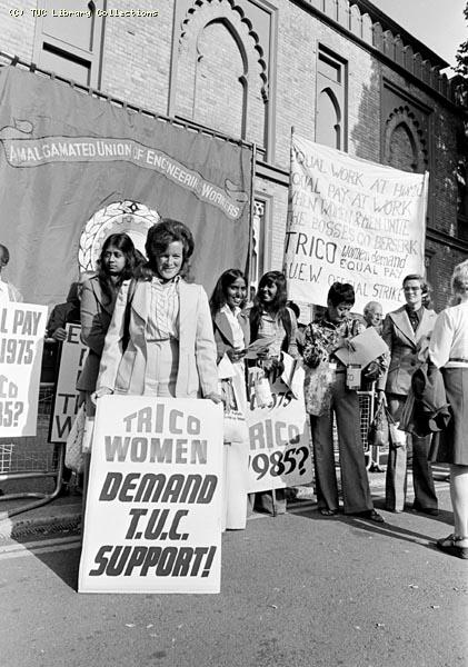Equal pay strike at Trico - Folberth, Brentford, 1976