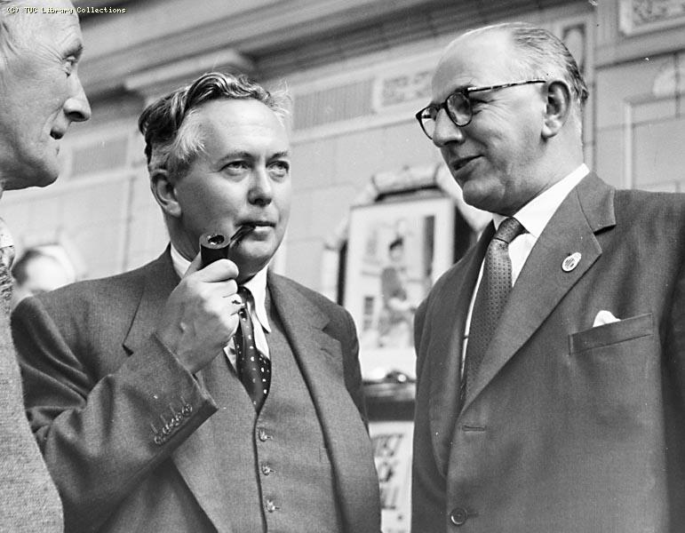 TUC Congress, 1957 - Harold Wilson and Frank Cousins