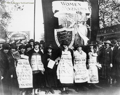 National Federation of Women Workers Unemployment Benefit Demonstration, 1920