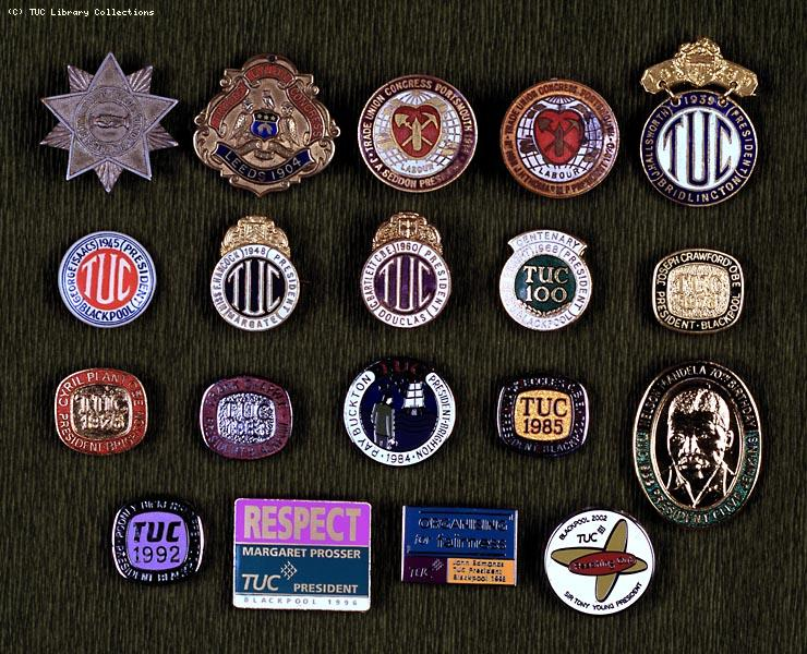 TUC Congress badges, 1899-2002