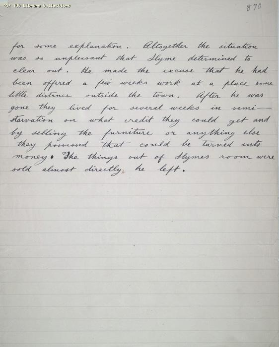 The Ragged Trousered Philanthropists - Manuscript, Page 870