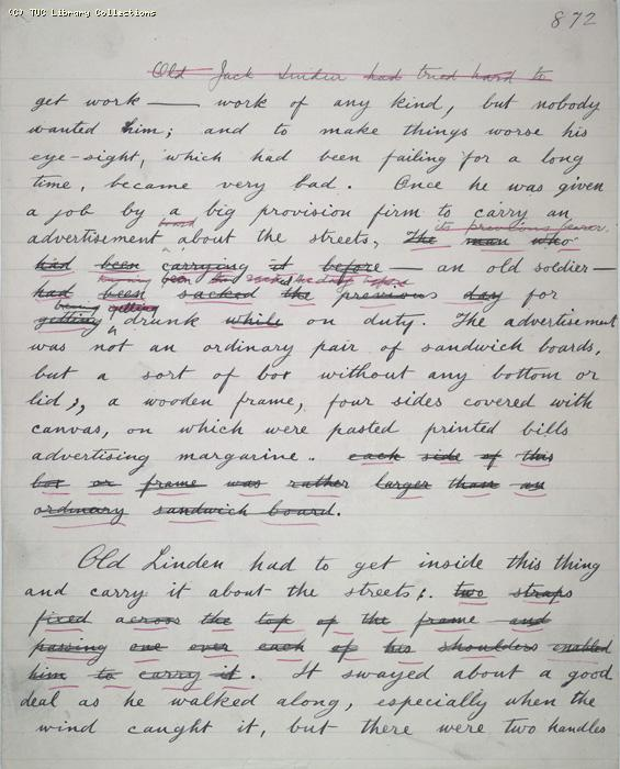 The Ragged Trousered Philanthropists - Manuscript, Page 872