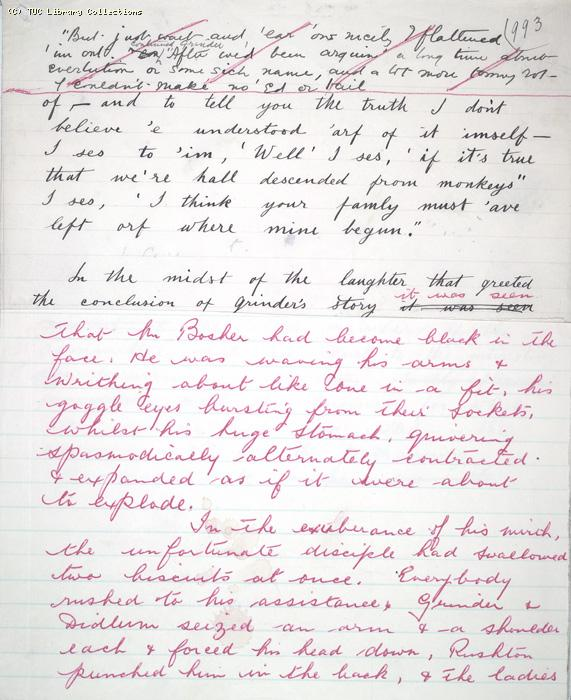 The Ragged Trousered Philanthropists - Manuscript, Page 993a