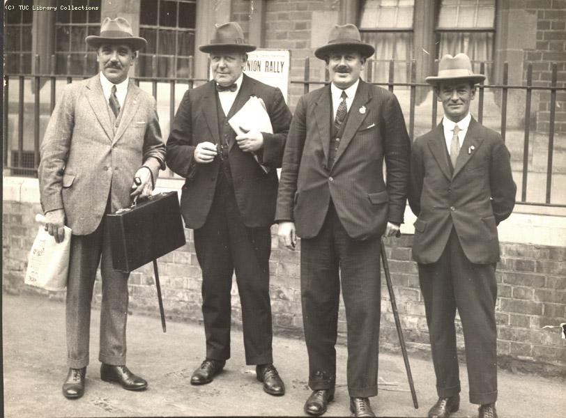 Fraternal delegates, Scarborough Congress, 1925