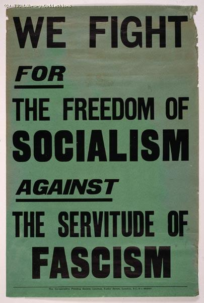 Poster - TUC anti-fascist, 1933
