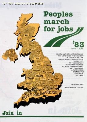 Peoples March for Jobs leaflet, 1983